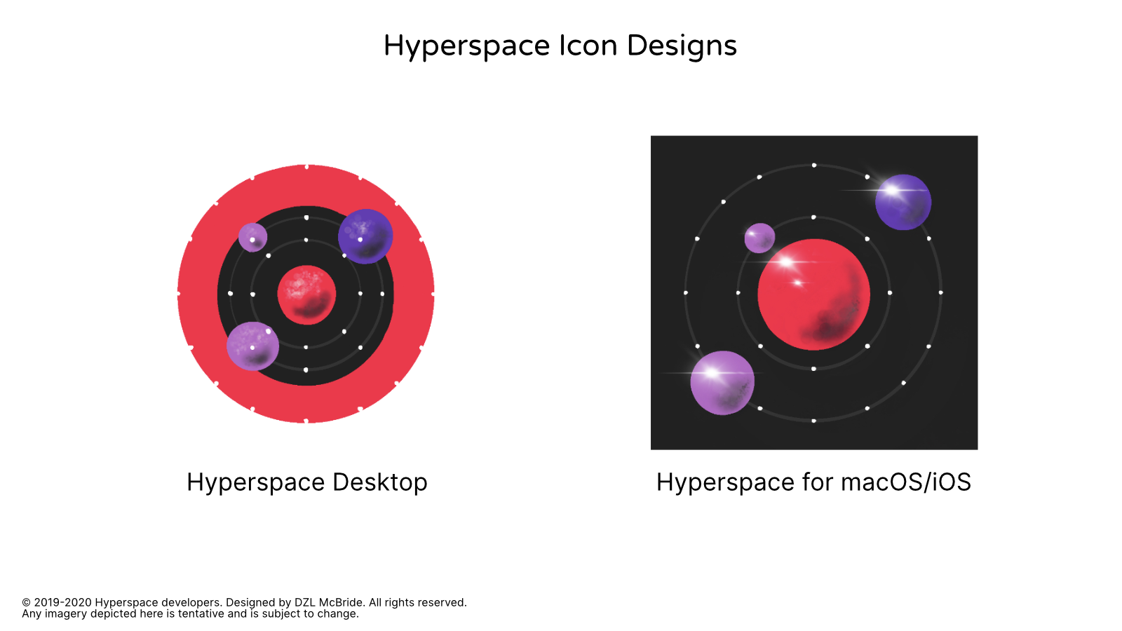 Hyperspace Tentative Icon Designs